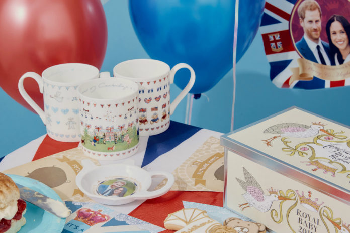 Royal baby commemorative mugs