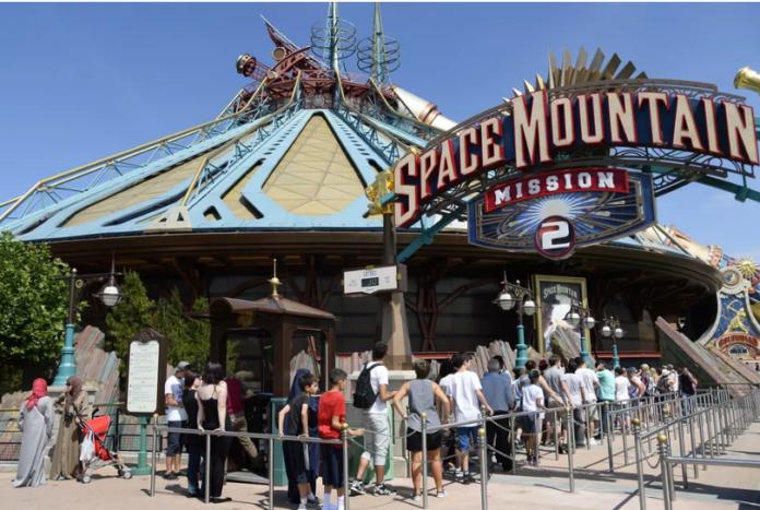 Space Mountain at Disneyland Paris