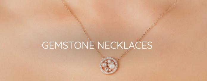 Gold Gemstone Necklaces